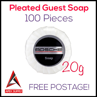 Pleated Guest Soap 20g Individually Wrapped 100pcs Hotel Motel BnB Amenites