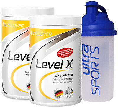 Ultra Sports LEVEL X 2x500g Dose + Mix Shaker