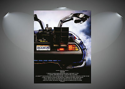 Back To The Future Delorean Vintage Movie Art Poster Print - A0 A1 A2 A3 A4