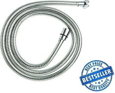 2M EPDM Chrome Stainless Steel Shower Hose Bristan Mira Grohe Replacement