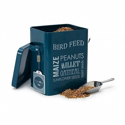 Burgon u0026 Ball Bird Feed Tin Petrol Blue Wild Bird Seed Food Storage Container  sc 1 st  PicClick UK & BURGON u0026 BALL Bird Feed Tin Petrol Blue Wild Bird Seed Food Storage ...