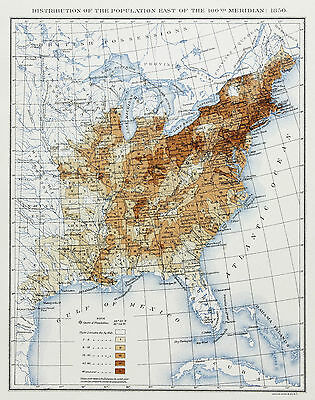 1850 United States Map Texas Indian Territory Missouri Territory Population