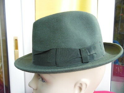 Cappello Vintage Originale-Qualita' Top-Nadir-Made In Italy-Feltro Verde-Mis. 54