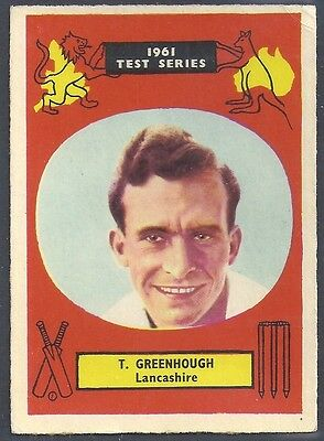 A&BC-CRICKET ERS 1961 TEST SERIES (90MMx64MM)-#01- LANCASHIRE - TOM GREENHOUGH