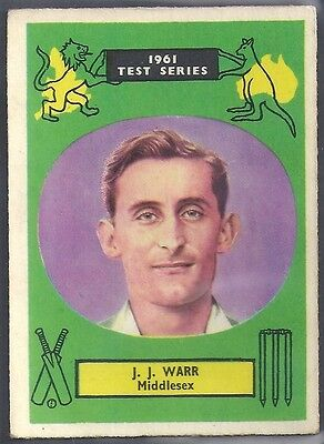 A&BC-CRICKET ERS 1961 TEST SERIES (90MMx64MM)-#09- MIDDLESEX - JOHN WARR