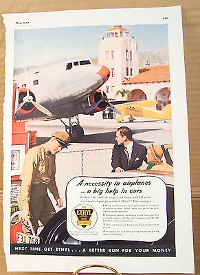1930s Ethyl Gasoline Corporation ads. Advertising.