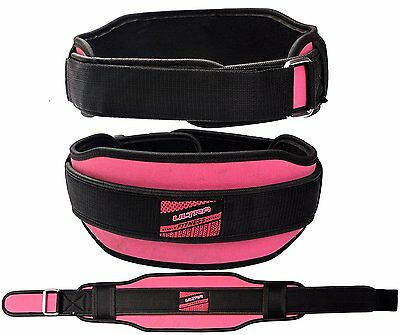 Ladies Weight Lifting Belt Gym 5.5'' Wide Back Lumber Support Fitness women