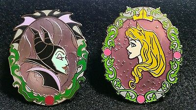 Disney Annual Passholder Cameos with Character Maleficent & Princess Aurora Pins
