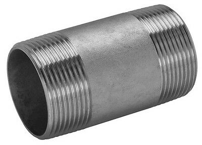 """Barrel Nipple BSP Stainless Steel 316 A4 Grade 150lb All Sizes 1/8"""" To 4"""""""