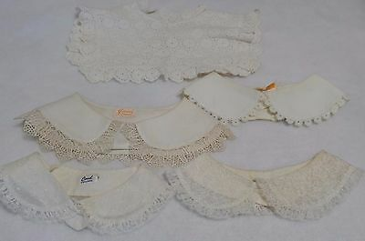 Vintage And Edwardian Childrens Lace Collars - Lot of 5