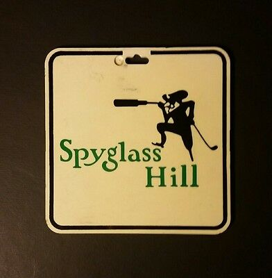 SPYGLASS HILL Peeble Beach CA  70s 80s BING CROSBY NATIONAL PRO-AM Bag Tag
