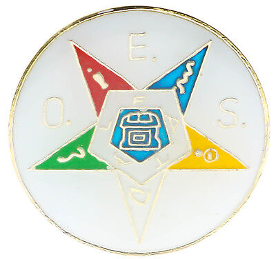 OES Order of the Eastern Star Round 1 inch Hat or Lapel pin AK878D118