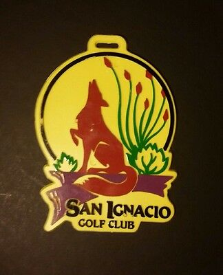 Vintage San Ignacio Golf Bag Tag 70's 80s Arizona Coyote Resort