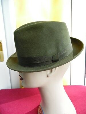 Cappello Vintage Originale-Alessandria-Made In Italy-Mis. 56
