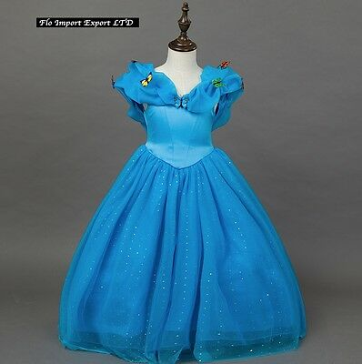 Cenerentola Vestito Carnevale Dress up Princess Cinderella Costumes 567021