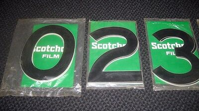 Large 3M ScotchCal Numbers