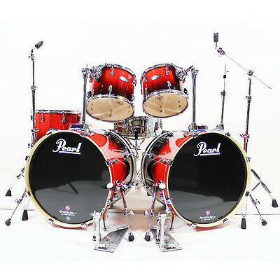 Pearl Vision Birch VBL Double Bass Set in Ruby Fade