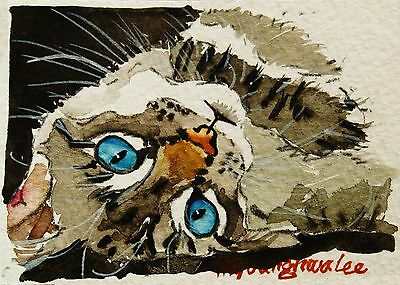 ACEO Limited Edition- Cat Art print of an ACEO watercolor