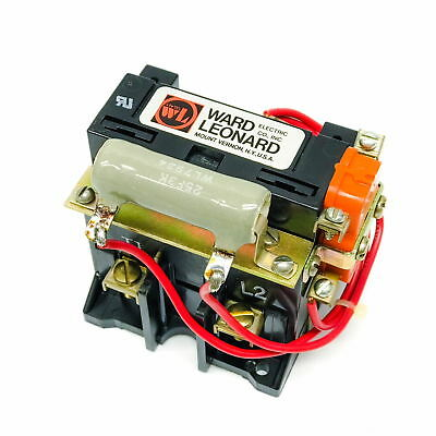 7001-7031-22 Ward Leonard Contactor, 2-Pole, 208-220V Coil, W/Aux Switch & Res
