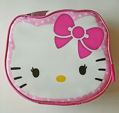 NWT Hello Kitty Zippered Insulated Lunch Box Pink Bag Sanrio NEW