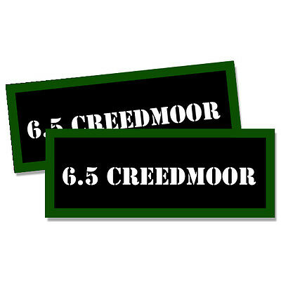 "6.5 Creedmoor compatible Ammo Can Labels Ammunition 3""x1.15"" stickers 2 pack"