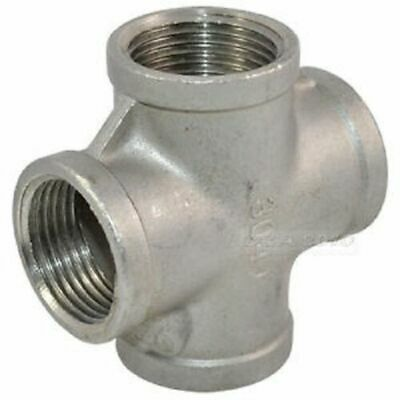 "Cross BSP Pipe Fittings Stainless Steel 316 A4 Grade 150lb  1/8"" To 4"""
