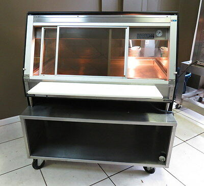 Alto Shaam Ed2-48 Commercial Food Display Warmer Merchandiser on Stand