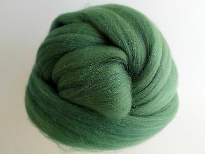 Dark Olive Green* 100% Merino Wool Roving Tops for Needle and Wet Felting 50 g