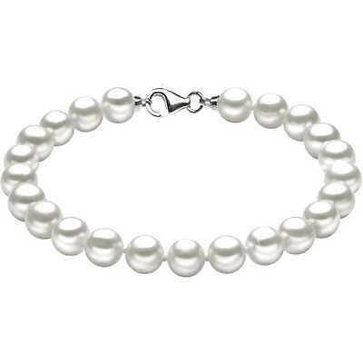 Pearl bracelet water dolce white gold 18 carat Comete Various sizes