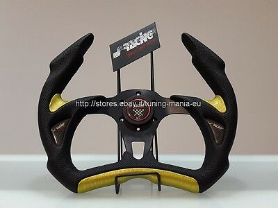 Volante sportivo SIMONI RACING X5 STEALTH RACE 350 MM NERO/GIALLO Made in Italy