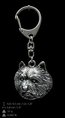 Norwich Terrier silver covered keyring, high quality keychain Art Dog