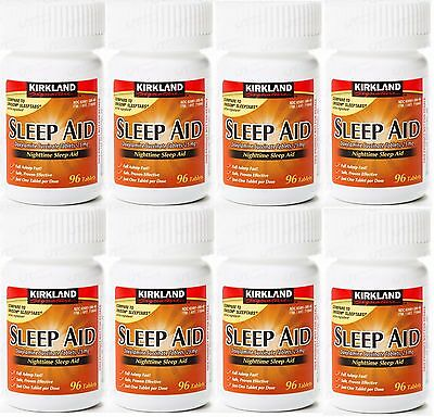 Kirkland Sleep Aid 25 mg 96 Tablets -CHOOSE QUANTITY