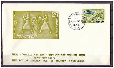 Israel FDC First Day of Jericho Post By M. Government ESSt Jericho 12.07.1967