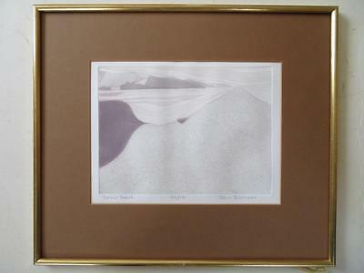 JOHN BRUNSDON (1933-2014) LIMITED EDITION ETCHING pencil signed DORSET BEACH