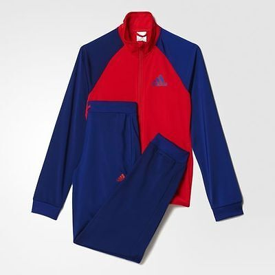 Adidas Gym Youth Boys Kids TS Entry Tracksuit Jacket Pants Blue Red SZ S M L XL