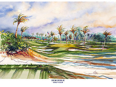 Seminole Golf Club Limited Edition Art Print Signed and Numbered by Artist