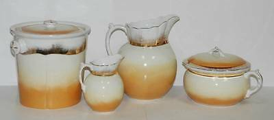 6 Pc Antique JOHNSON BROS Victorian CHAMBER SET Pitchers Slop Bucket Chamber Pot