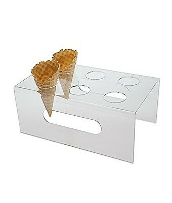 SourceOne Source One Deluxe 6 Hole Clear Food Grade Acrylic Ice Cream Cone