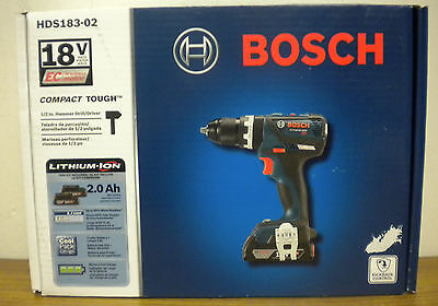 (80320) Bosch HDS183-02 18V Cordless 1/2in Hammer Drill/Driver (New in Box)