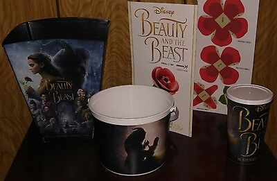 Cinemark XD PROMO Beauty and the Beast Fan Event Cubefold Rose Bucket Cup NEW