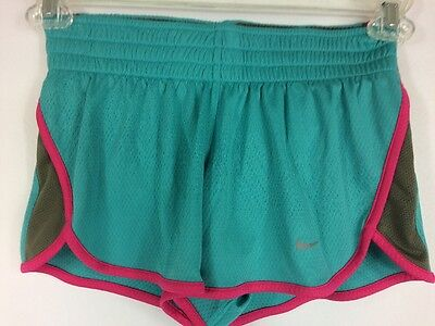 NIKE shorts Aqua Blue Gray Pink Dry-Fit Athletic Tempo Running Women's Size XS