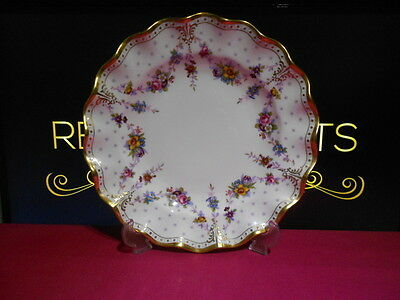 """Royal Crown Derby 1st Quality Antoinette 10"""" Dinner Plate XLI A.1225"""