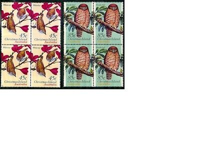 Christmas Island 1996 Land Birds Block of 4 Set - CI428/9BK