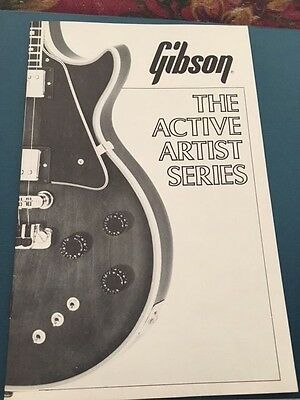 Vintage GIBSON Catalog The Active Artist Series Cool Guitar Collectible