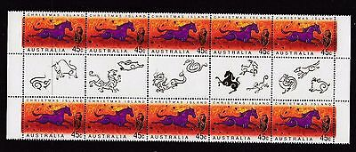 Christmas Island 2002 Year of the Horse (Purple) Block of 10 - CI504BK10