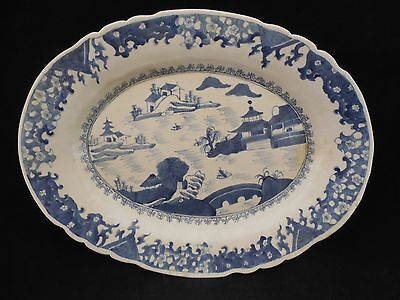 19c Antique Chinese Blue & White Platter