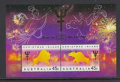 Christmas Island 1997 Year of the Ox Minisheet - CI436MS