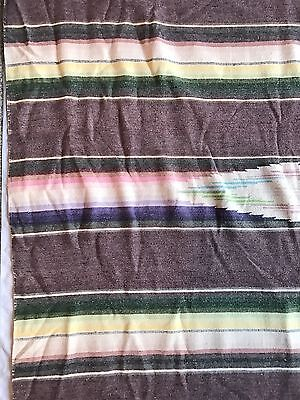 Vintage Saltillo  1950s Mexican Serape 80.5 x 43 Muted Colors