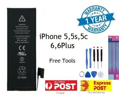 For iPhone New Genuine Original Internal Battery 5/5C/5S/6/6p/6s/6sp & Tool Kit