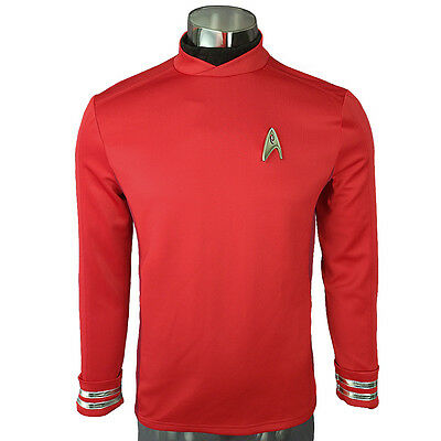 Beyond Scotty Cosplay Costumes Red Shirt Halloween Officer Uniforms